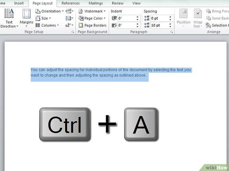 как сделать в word междустрочный интервал