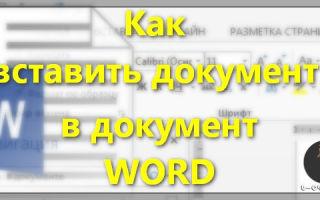 как сделать вставку в word 2010