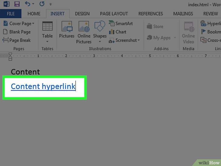 как сделать web страницу в word