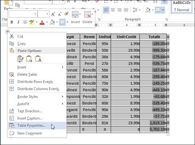 как сделать чтобы таблица в word не растягивалась