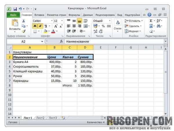 как сделать шрифт по умолчанию в excel 2010