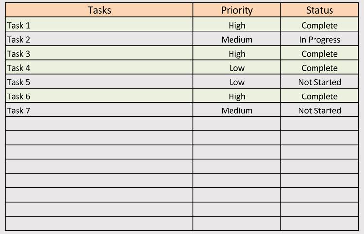 как сделать to do list в excel