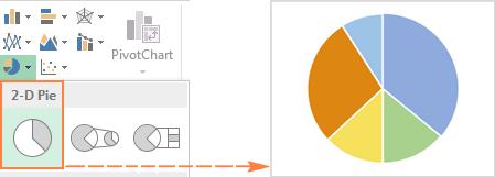 как сделать вторичную круговую диаграмму в excel