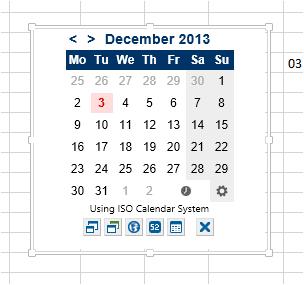как сделать выпадающий календарь в ячейке excel