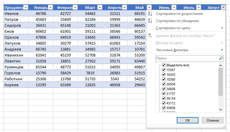 как в excel сделать бесконечную таблицу